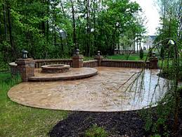 Backyard Stamped Concrete Ideas Pattern Stamped Concrete Norton Ohio Oh