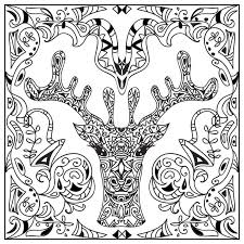 deer head coloring page stock illustration image 67944635