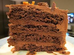 double chocolate cake with dark chocolate mousse filling and