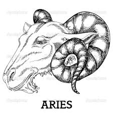 attractive aries zodiac sign tattoo design by danussa