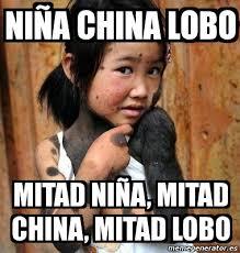 Meme China - meme personalizado ni祓a china lobo mitad ni祓a mitad china