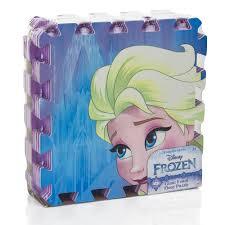 tappeto puzzle disney tappeto puzzle morbido disney frozen elsa e 9 pezzi 90 cm