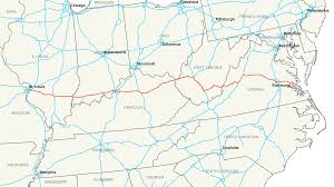 Virginia State Map A Large Detailed Map Of Virgi by Interstate 64 Wikipedia