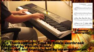 it s thanksgiving westbrook patrice wilson piano cover