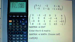 solving system of complex valued linear equations with ti83 youtube