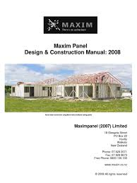 maxim panel design construction manual 2008 framing
