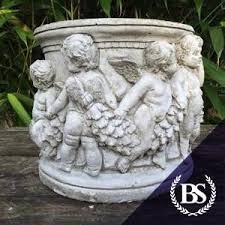 small cherub planter garden ornament mould brightstone moulds