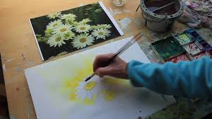 how to paint a white daisy by uk artist sheila gill youtube