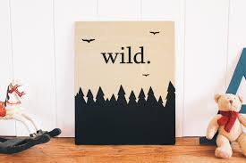 Wall Paintings For Home Decoration Wild Wooden Wall Art Wall Sign Nursery Decor Kids Room