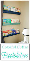 seesaws and sawhorses colorful gutter bookshelves
