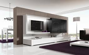Tv Cabinet Designs For Living Room Cool Led Tv Wall Interior Design White And Wood Tv Wall Ideas Tv