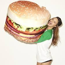 appetizing seating designs burger bean bag