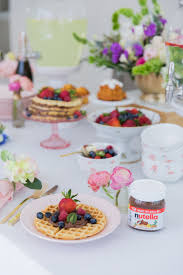 brunch bridal shower how to host the bridal shower brunch with nutella