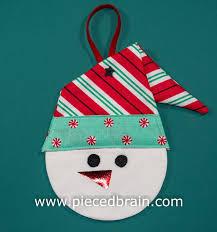 pieced brain snowman decor