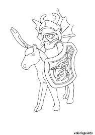 coloriage playmobil chevalier dessin