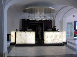 Glass Reception Desk Office U0026 Workspace Swanky Etched Glass Reception Desk Design