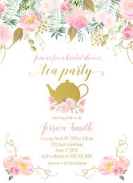 bridal tea party tea party invitation bridal shower invitation bridal tea