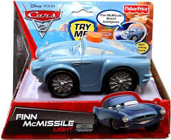 fin mcmissile fisher price disney cars cars 2 finn mcmissile light plastic car
