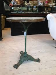 antique marble bistro table french marble top bistro table with green cast iron base in from the