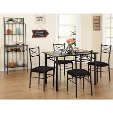 baker dining room chairs simple living valencia 6 piece metal dining set with baker s rack