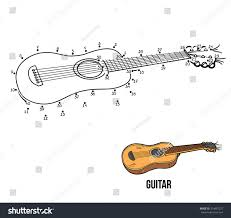 connectthedots game children musical instruments guitar stock