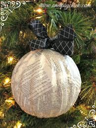 diy book page ornaments