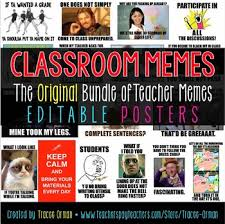 Teacher Meme Posters - classroom memes posters editable back to school class rules by