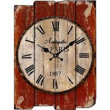 Grande Horloge Murale Carrée En Bois Vintage Achat Horloge Murale Betty Grande Pinteres