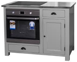 meuble cuisine four et plaque meuble four et plaque de cuisson en pin massif 120cm