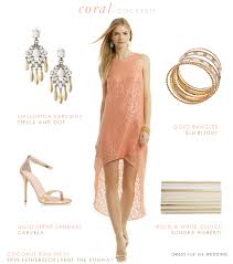 dresses to wear to a wedding reception coral and gold dress for a cocktail hour wedding reception