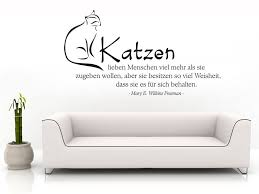 sprüche für einen lieben menschen wandtattoo katzen lieben menschen viel mehr wandtattoos katze