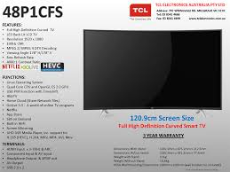Wall Mount For 48 Inch Tv Tcl 48p1cfs 48 Inch Full Hd Led Tv Fhd Hbbtv Built In Wi Fi Go