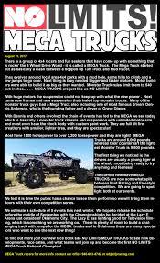 monster truck mud racing no limits mega trucks