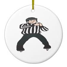 hockey referee ceramic ornament zazzle
