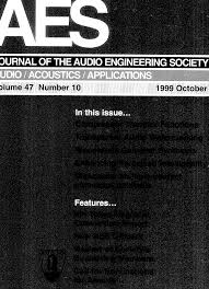 aes e library complete journal volume 47 issue 10
