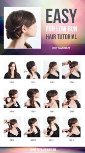 Easy On The Go Hairstyles by Best 25 Easy Low Bun Ideas On Pinterest Low Hair Buns Easy