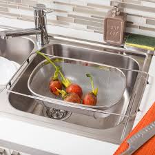 KSP OverTheSink Expandable Strainer Kitchen Stuff Plus - Stainless steel kitchen sink strainer