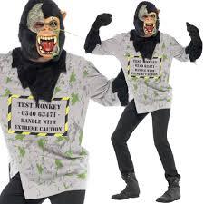 monkey costume halloween halloween fancy dress scary doctor mutant test monkey costume
