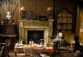 gothic style decorating with wallpaper and victorian style