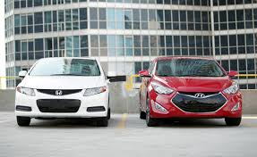 honda civic or hyundai elantra 2013 hyundai elantra coupe vs 2012 honda civic coupe car reviews