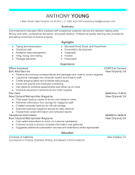 resume template office assistant administrative assistant resume