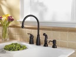 interior stainless kohler kitchen faucets with single handle on