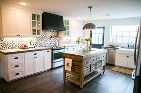 Tiled Kitchen Island by Fixer Upper Vent Hood Wall Wood And Hoods
