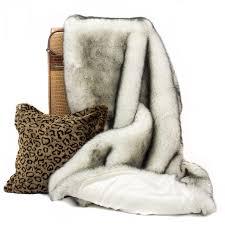 Faux Fox Fur Throw Posh Pelts Arctic Fox Throw U2013 Soft Black Tipped