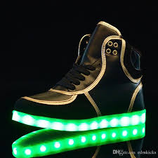 light up shoes for adults men light up shoes sports sneakers women men high top usb charging led