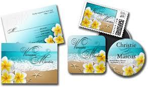 tropical wedding invitations wedding cards and gifts plumeria starfish tropical wedding