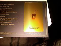 starbuck gold card jeff keeping it real new starbucks gold card