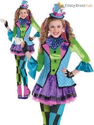 girls alice mad hatter queen of hearts costume teen book week day
