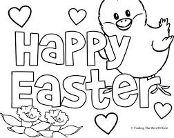 happy easter coloring pages getcoloringpages com