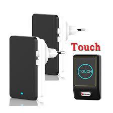 wireless doorbell system with light indicator new touch sensor design waterproof wireless doorbell eu us plug home